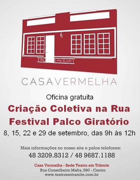 """Oficina gratuita """"Criação Coletiva na Rua"""" - Festival Palco Giratório Sesc"""