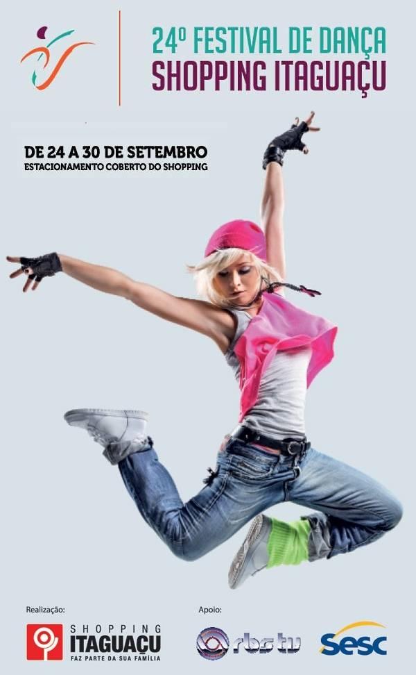Oficinas gratuitas no 24° Festival de Dança do Shopping Itaguaçu