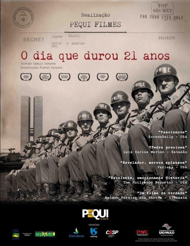 """Exibição do documentário """"O Dia que durou 21 anos"""", de Camilo Tavares"""