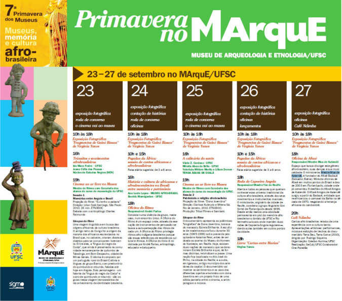 MArquE promove 7ª Primavera dos Museus
