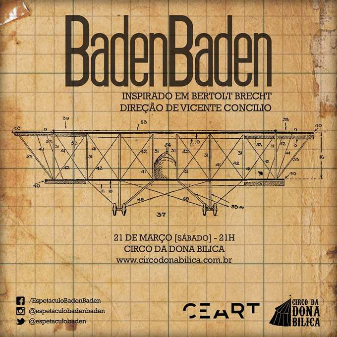 """""""BadenBaden"""", inspirado em Bertolt Brecht"""