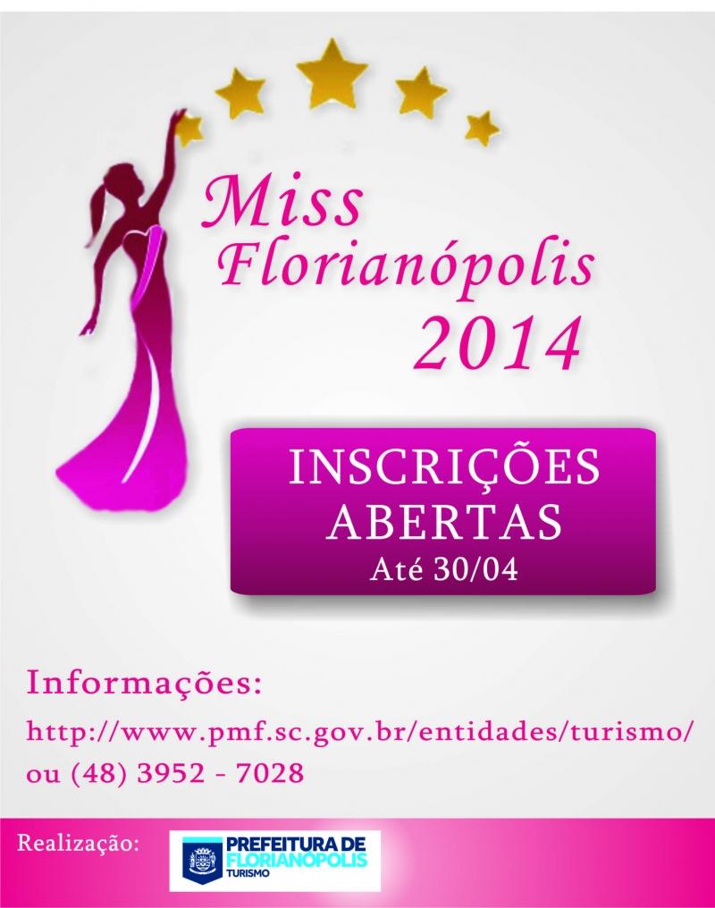 Inscrições abertas para o Concurso Miss Florianópolis 2014