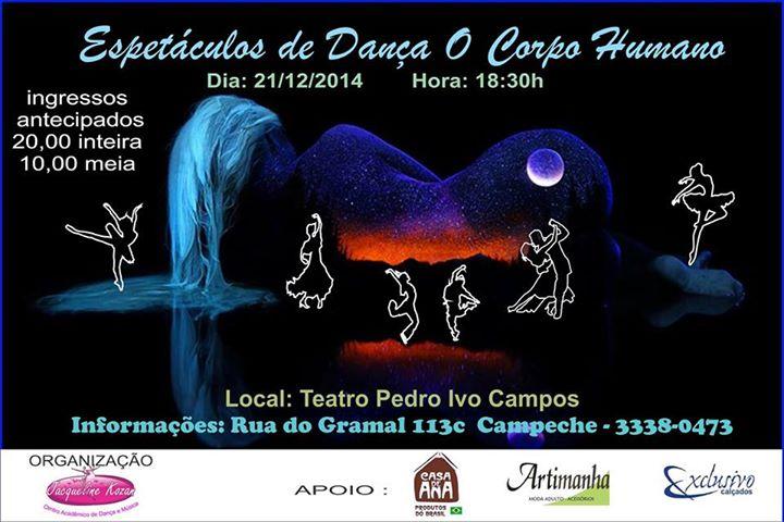 """Espetáculo de Dança """"O Corpo Humano"""""""