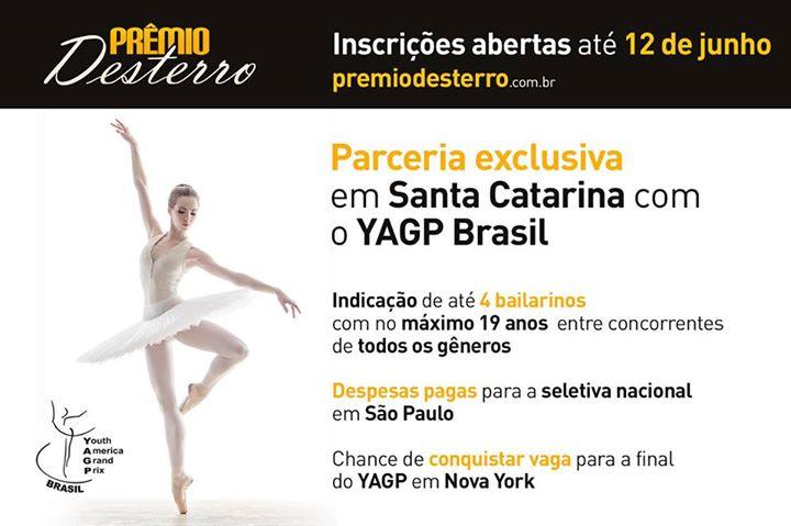 Prêmio Desterro 2014 selecionará bailarinos para o YAGP Brasil