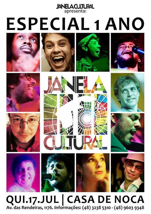 Festa de Aniversário de 1 ano da Janela Cultural