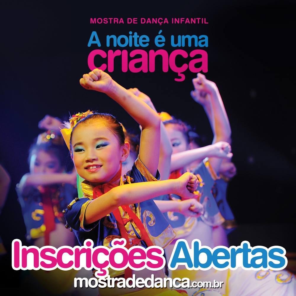 Inscrições para A Noite É uma Criança – 13ª Mostra de Dança Infantil de Florianópolis