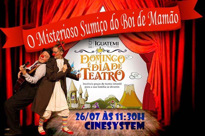 O Misterioso Sumiço do Boi de Mamão no Domingo é Dia de Teatro