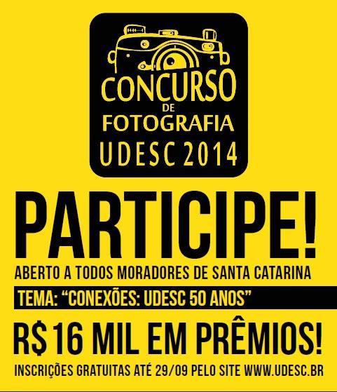 Inscrições para o concurso de fotografia da Udesc
