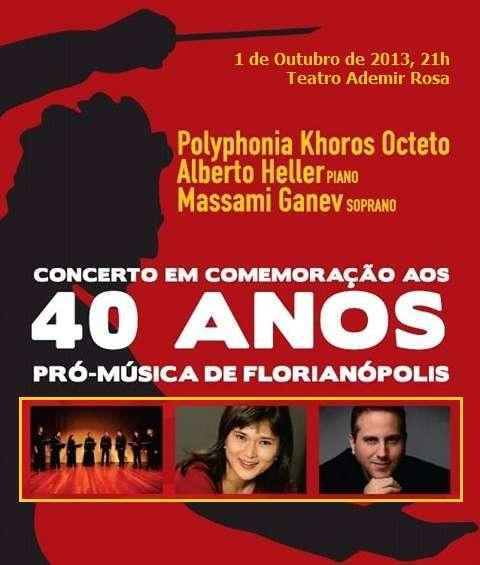 Concerto em Comemoração aos 40 anos da Pró-Música