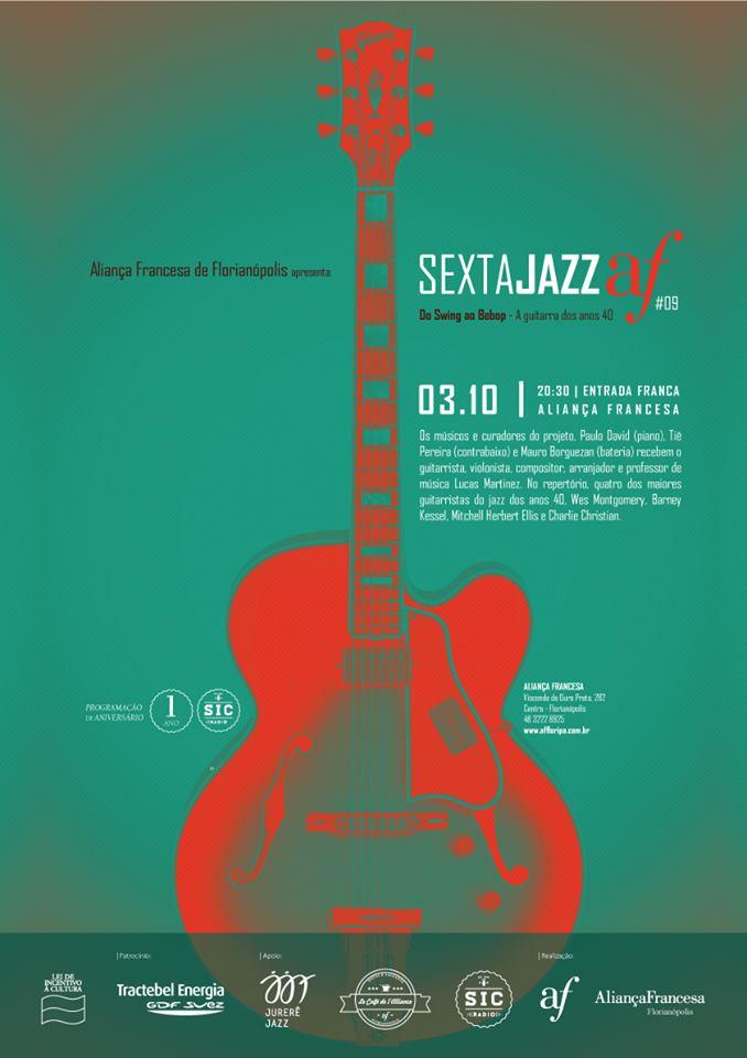 9ª edição do Sexta Jazz AF: Do Swing ao Bebop – A guitarra dos Anos 40
