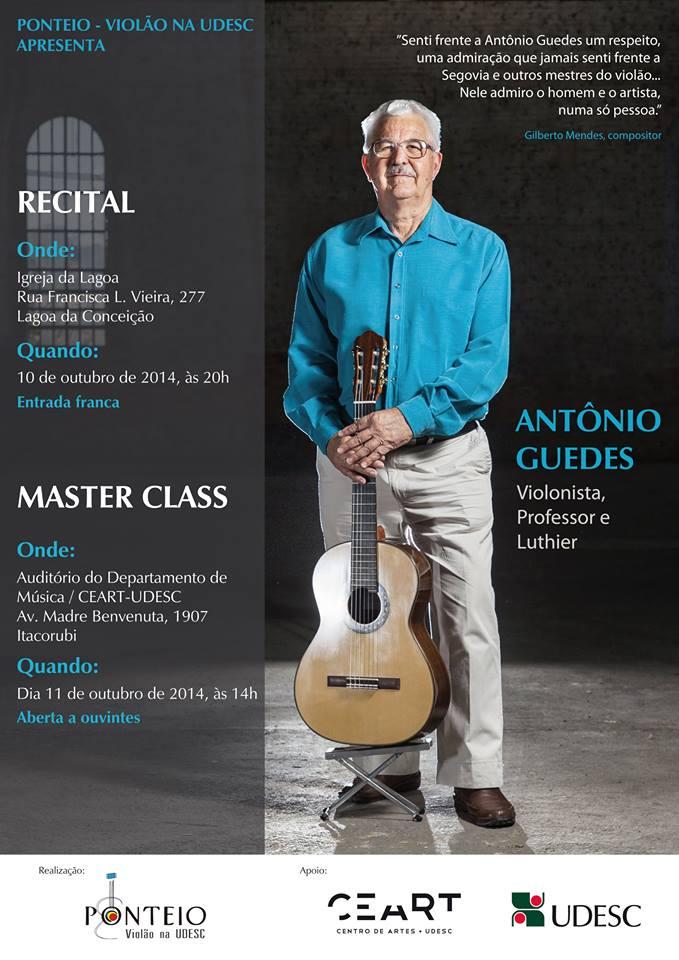 Masterclass e Recital de violão com Prof. Antônio Guedes