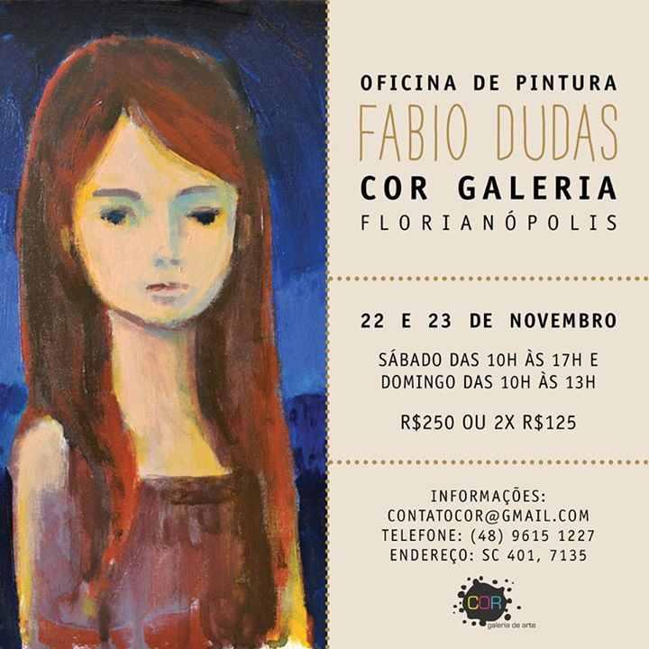 Oficina de pintura em tela com Fabio Dudas