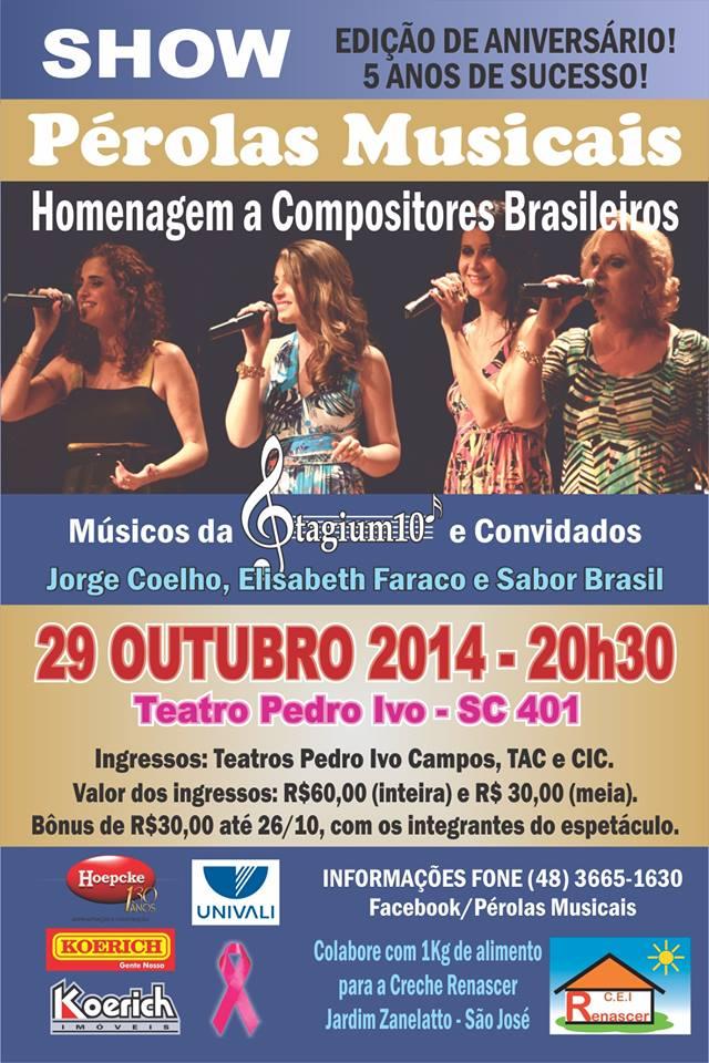 Show Pérolas Musicais - Homenagem a Compositores Brasileiros
