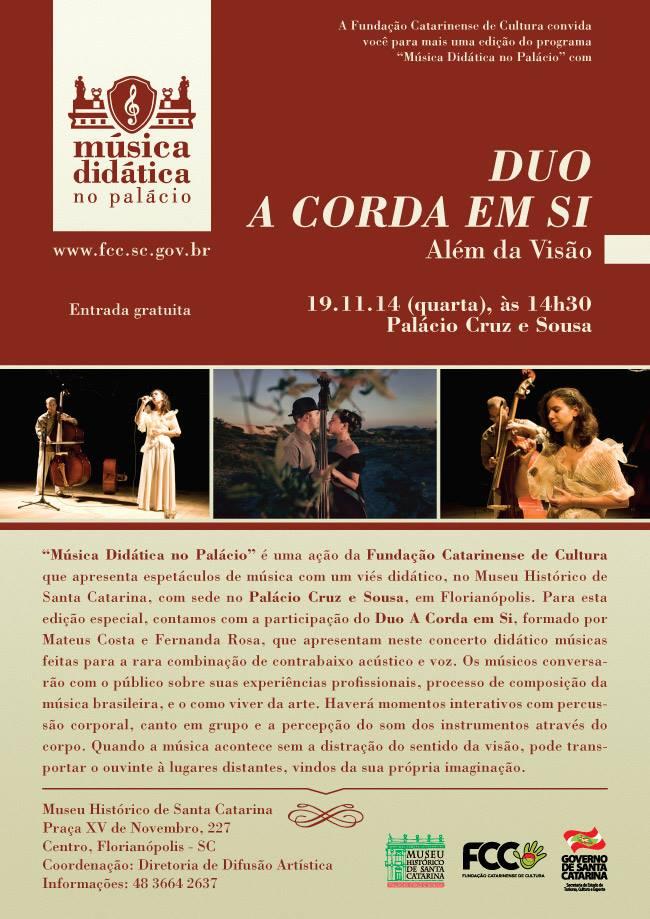 """Show Duo A Corda em Si """"Além da Visão"""" - Música Didática no Palácio"""