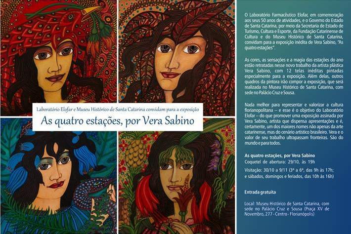 """Exposição """"As Quatro Estações"""", de Vera Sabino"""