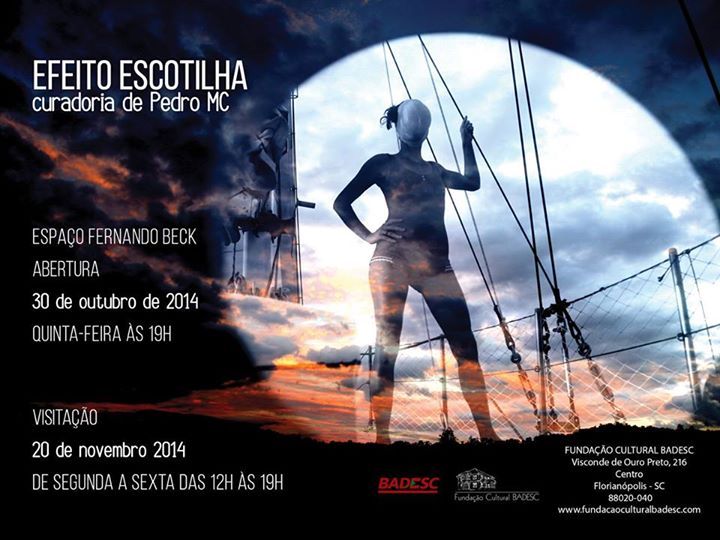 Exposição Efeito escotilha, com curadoria de Pedro MC