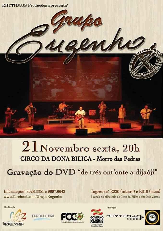 """Show Grupo Engenho - gravação do DVD """"de trés ont'onte a dijaôji"""""""