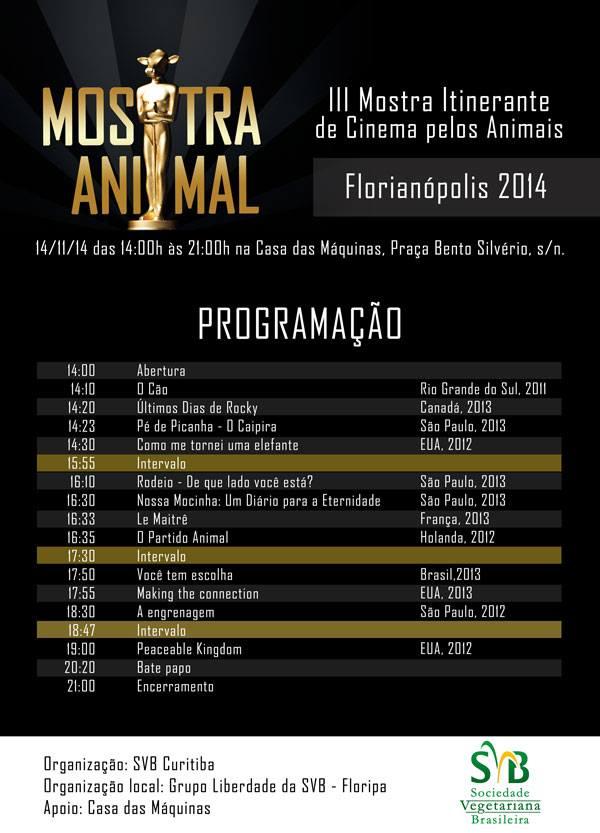 III Mostra Itinerante de Cinema pelos Animais