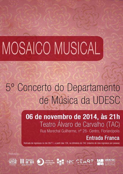 Mosaico Musical - 5º Concerto do Departamento de Música da Udesc