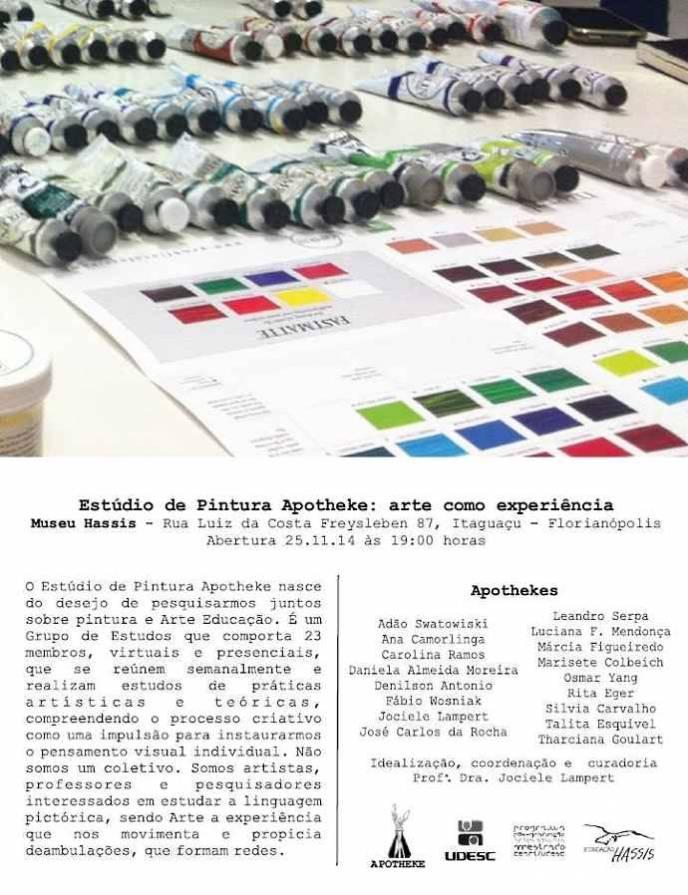 Exposição Estúdio de Pintura Apotheke: arte como experiência