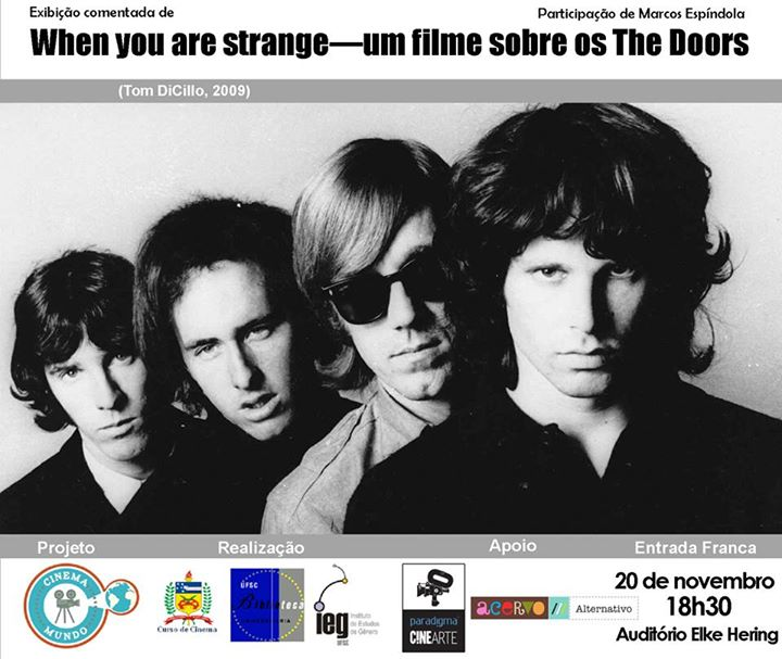 "Documentário ""When you are strange - um filme sobre os The Doors"""