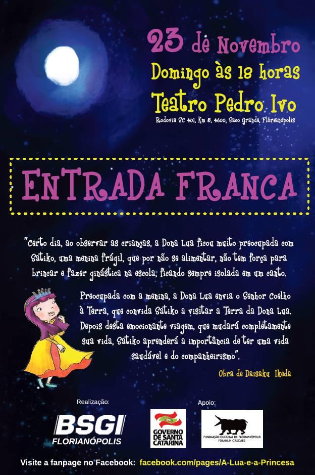 """Espetáculo Infantil """"A Lua e a Princesa"""""""