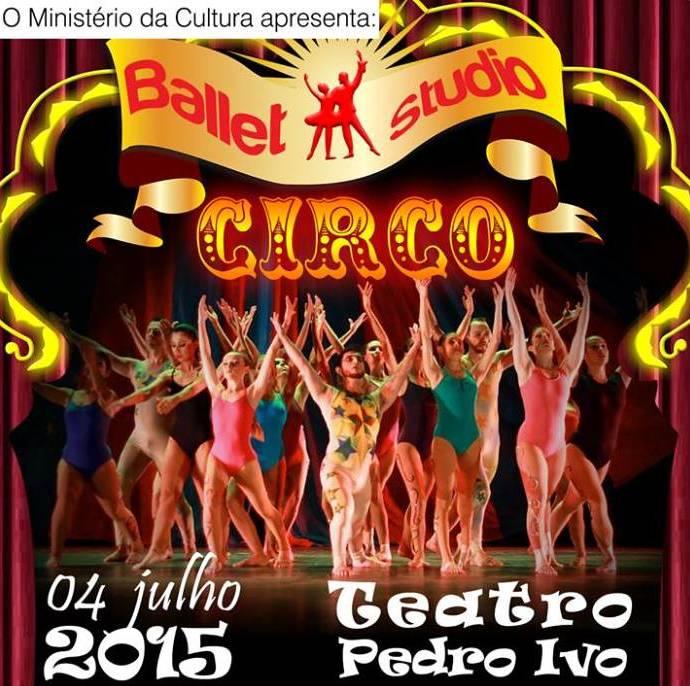 """Espetáculo de dança """"Circo"""" do Ballet Studio"""