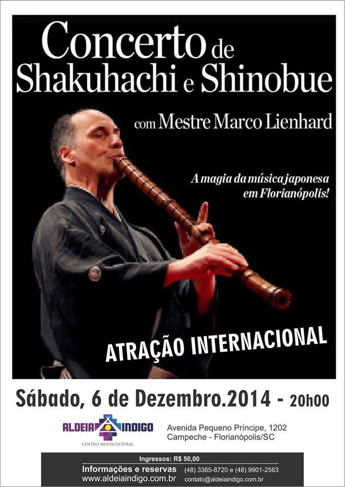 Concerto de de Shakuhachi e Shinobue com mestre Marco Leinhard