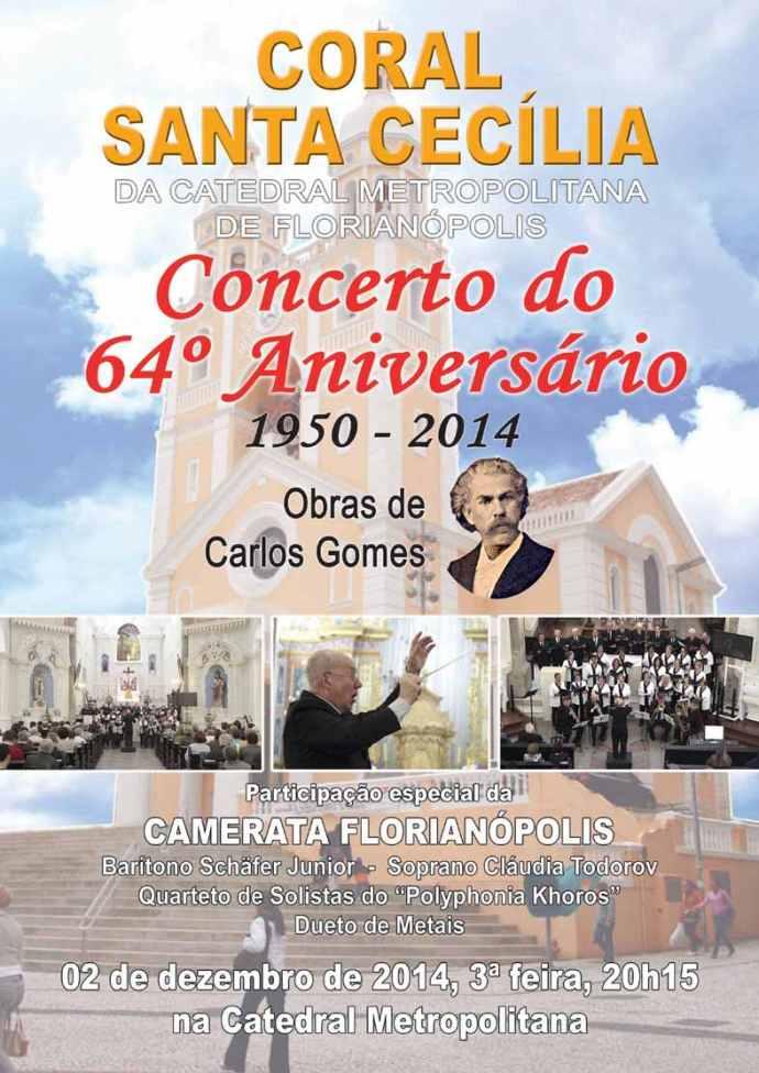 Concerto do 64º Aniversário do Coral Santa Cecília
