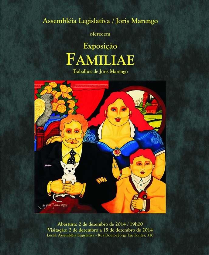 """Exposição """"Familiae"""" - Trabalhos de Joris Marengo"""