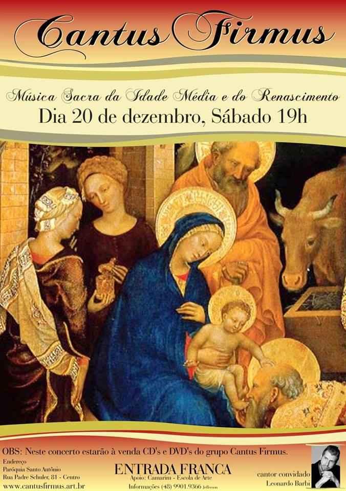 Concerto de final de ano do Cantus Firmus-Música Medieval e Renascentista
