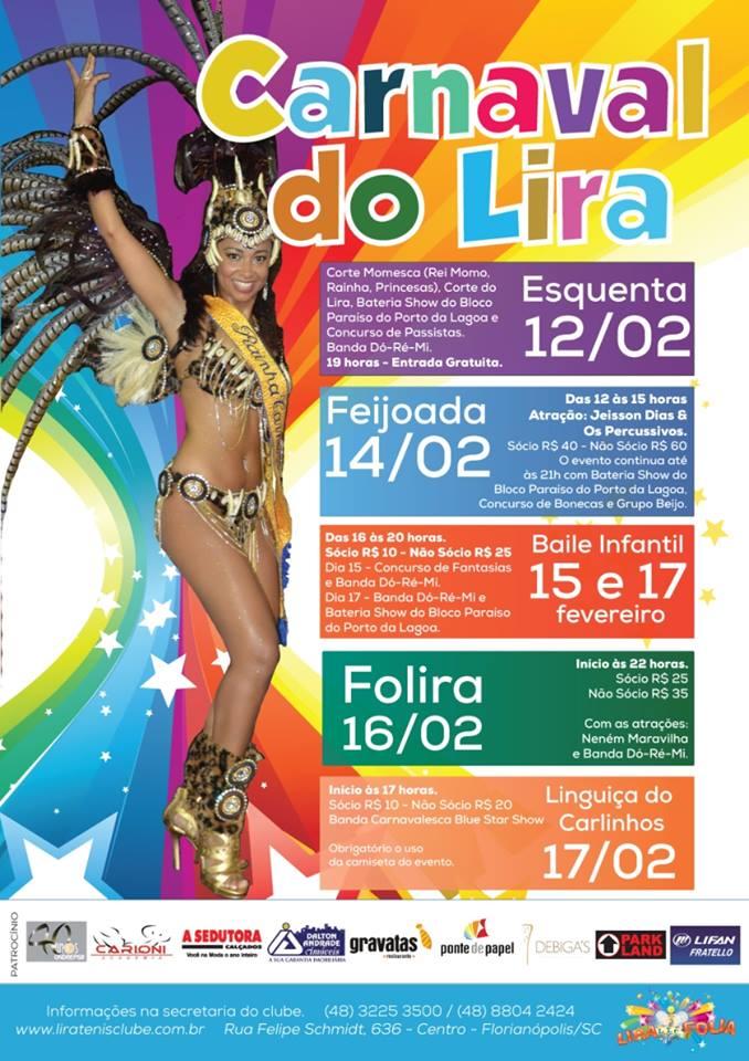 Programação Carnaval do Lira 2015