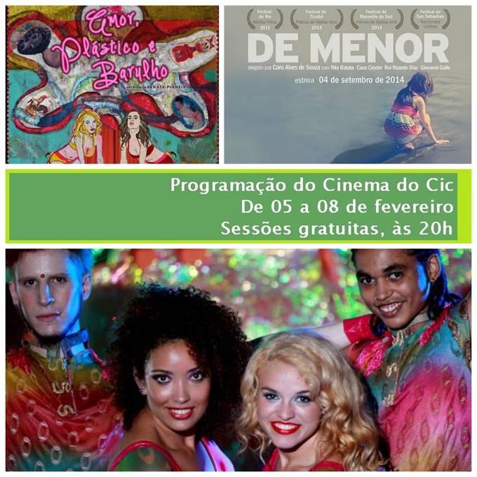 Cinema do CIC - Programação de 5 a 8 de fevereiro