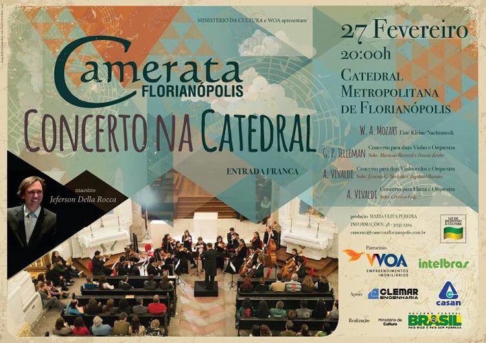 Primeiro Concerto da Camerata Florianópolis em 2015