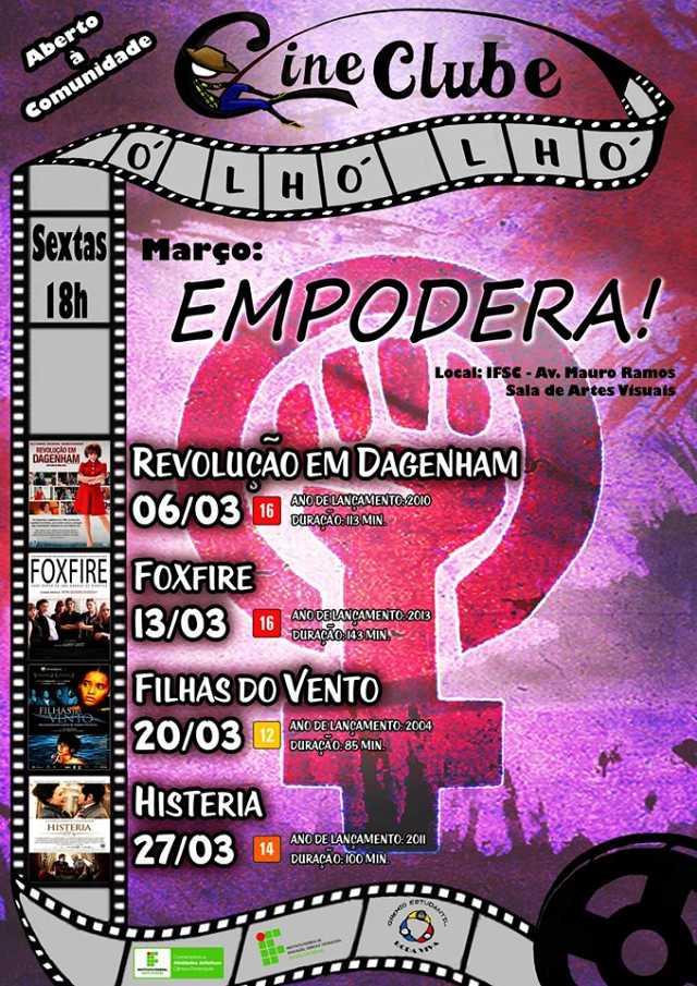 Ciclo EMPODERA! - programação de março do Cineclube Ó Lhó Lhó