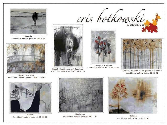 """Exposição """"Floripa que vejo quando te vejo"""" da artista Cristina Botkowski"""