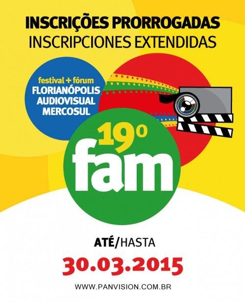 Inscrições para 19º Florianópolis Audiovisual Mercosul – FAM 2015