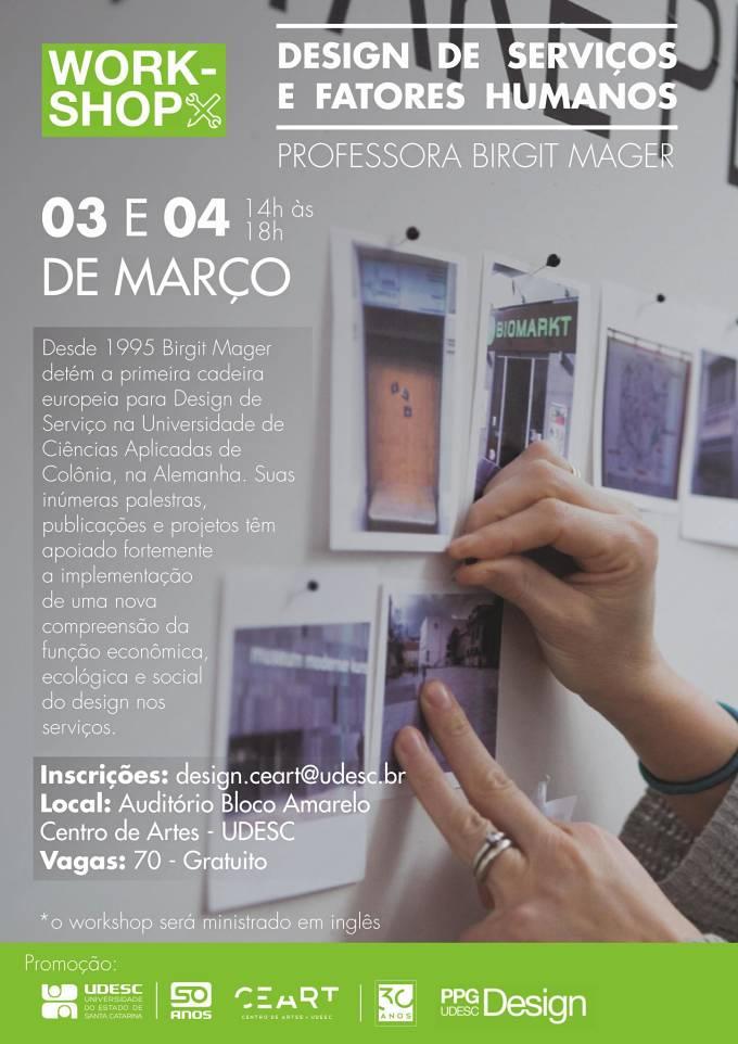 """Workshop """"Design de Serviços e Fatores Humanos"""", com Birgit Mager"""