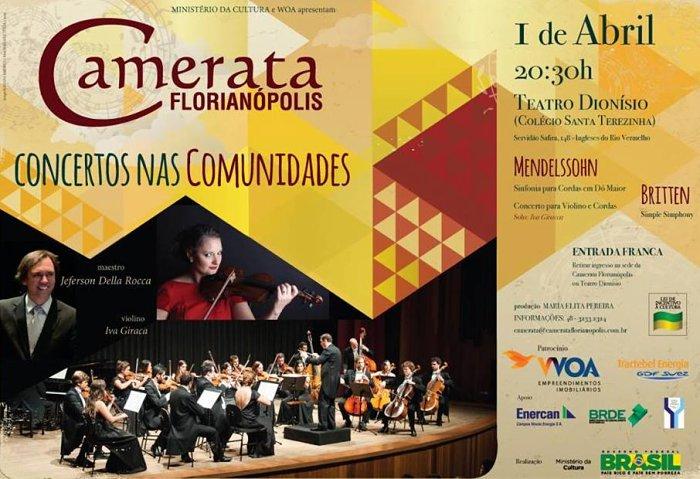 Camerata Florianópolis no Teatro Dionisio - Concertos nas Comunidades 2015