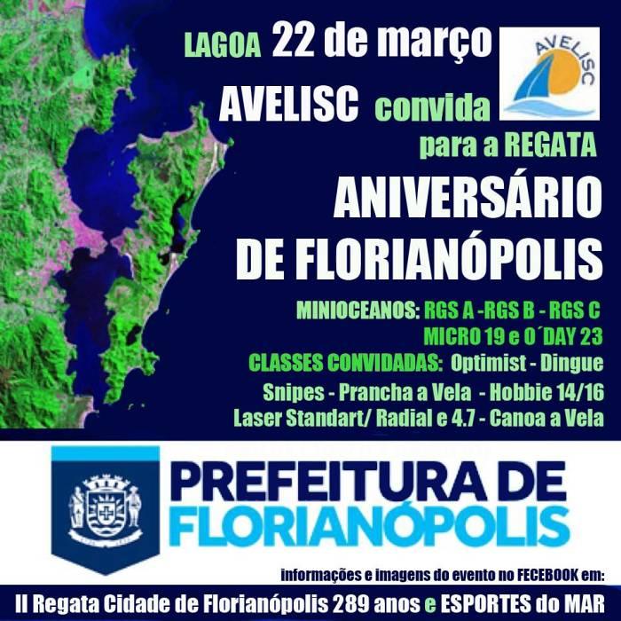 2ª Regata Cidade de Florianópolis 289 anos