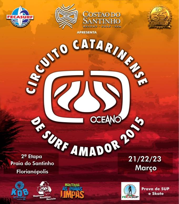 2ª etapa do Circuito Catarinense Oceano de Surf Amador 2015