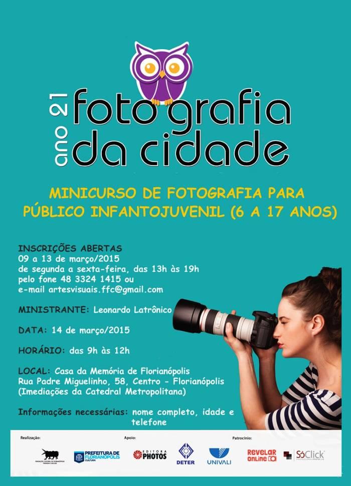 Minicurso gratuito de fotografia para público infantojuvenil
