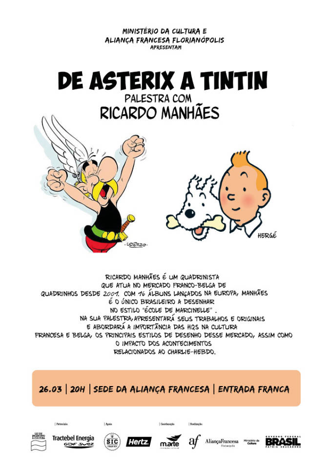 De Asterix a Tintin, Palestra gratuita com o ilustrador Ricardo Manhães