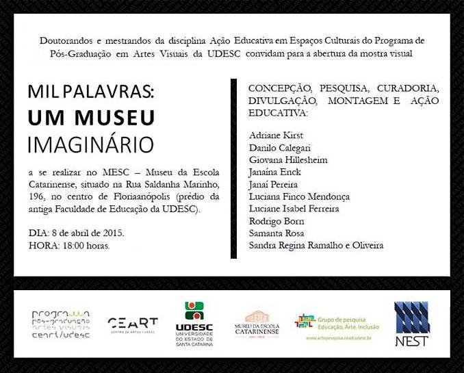 """Exposição """"Mil palavras: Um Museu Imaginario"""""""