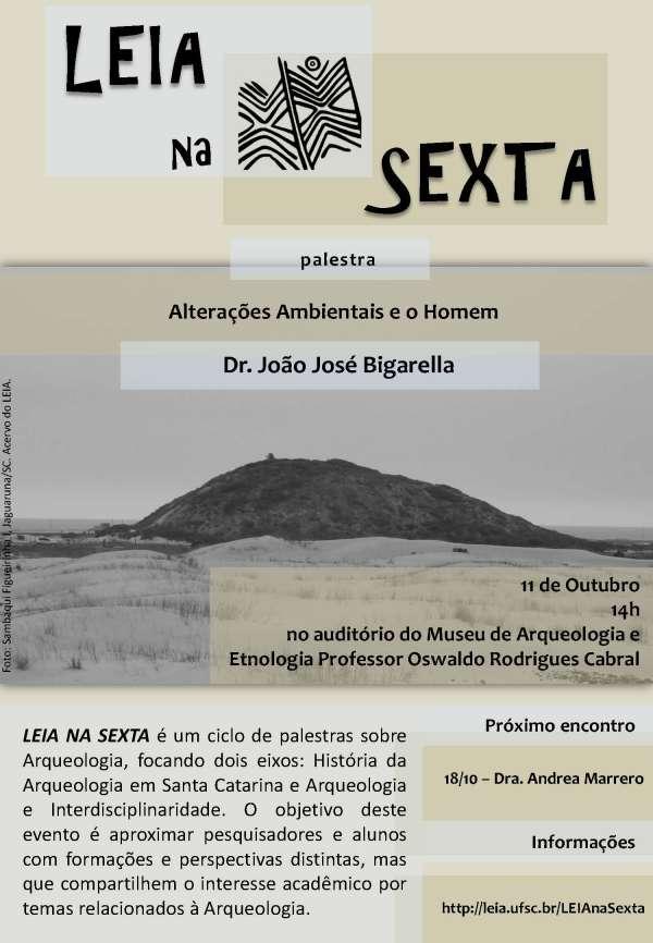 """Palestra """"Alterações Ambientais e o Homem"""" no Auditório do MArquE"""
