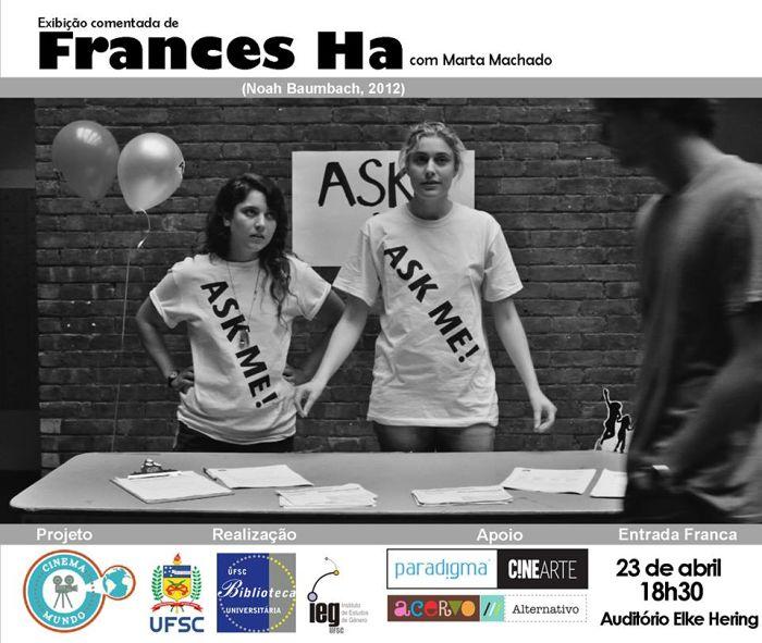 "Cinema Mundo exibe ""Frances Ha"" de Noah Baumbach"