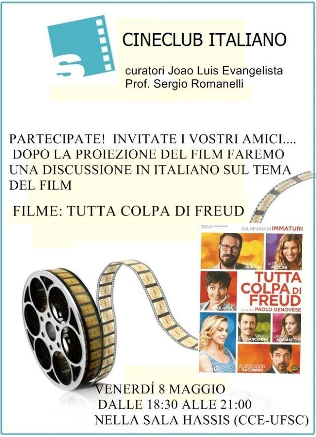 """Cineclub Italiano apresenta filme """"Tutta colpa di Freud"""""""