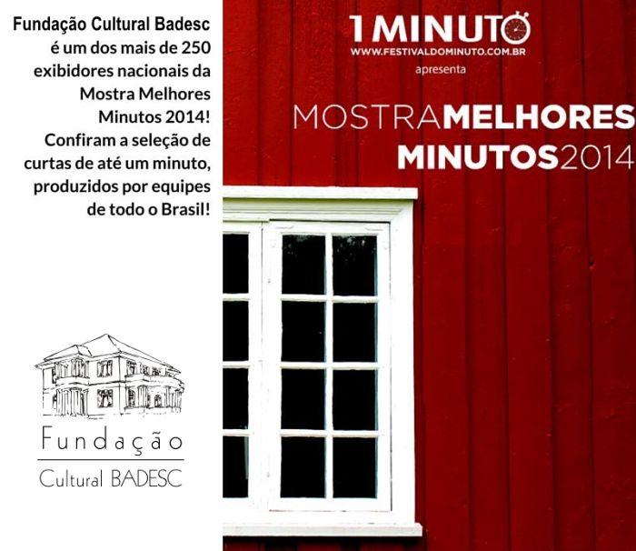 Cineclube Badesc exibe mostra Melhores Minutos 2014