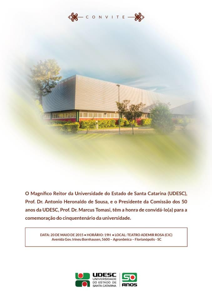 Cerimônia especial de Comemoração dos 50 anos da Udesc