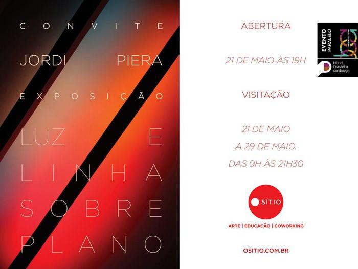 Exposição Luz e Linha sobre Plano, de Jordi Piera